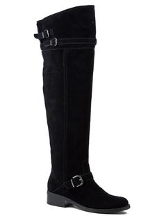Marc Fisher Women's Elmm Knee-High Boots Black Medium Natural Suede Size 6.5 M #MarcFisher #FashionOvertheKnee