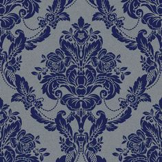 Palais Spot Navy wallpaper by Sophie Conran
