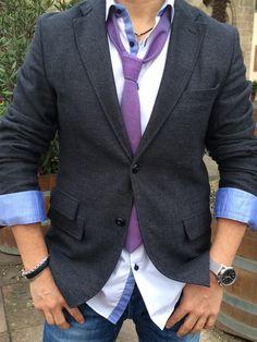 Urban Edge Purple Denim Tie, made of 100% cotton, ships worldwide. http://www.artisara.com/collections/denim-ties/products/urban-edge_purple-denim-tie
