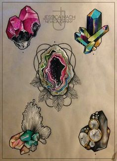 traditional crystal tattoo flash - Google Search