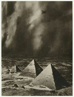 Alfred Buckham, The Pyramids In A Storm, Giza, Egypt, 1930s