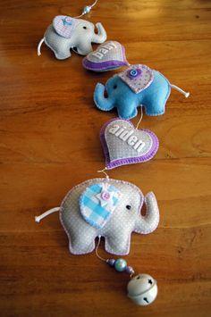 Handmade by JoHo - olifantenslinger van vilt en stof
