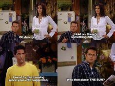 Ross & the spray tan