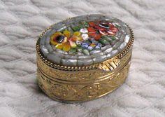 Vintage Micro Mosaic PILL BOX 1950s by vintagous on Etsy, $30.00
