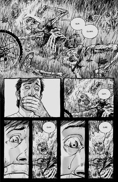Rick during the Beginning - The Walking Dead Comic