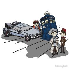 Whoops o.o Doctor Who and Back to the Future combinations are the best!