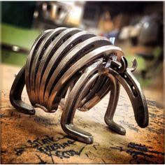 Horseshoe Armadillo by OakRidgeIronWorks on Etsy https://www.etsy.com/listing/225817006/horseshoe-armadillo