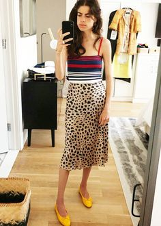 Leandra Medine Cohen skirt of summer style