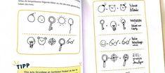 """nes Schaffranek, Autorin des Buches """"Sketchnotes kann jeder"""", hat sich ein kleines Kartenspiel ausgedacht. Mit diesem kann man auf verschiedenen Wegen Symbole und Bild-Kombinationen erstellen. Ich habe mir das Spiel einmal angesehen. Workshop, Bullet Journal, Mathematical Analysis, Picture Cards, Picture Ideas, Too Busy, Atelier"""