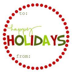 holiday printables – free gift tags