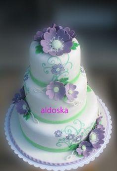 DORTY A SLADKOSTI aneb PEČEME S LÁSKOU - Fotoalbum - -MOJE PEČENÍ- - MOJE DORTY - My cakes - Ručně malovaný svatební pro Terezku