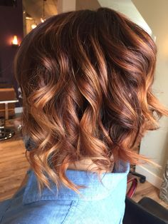 Love my fiery red heads!! Copper infused hilights are perfect for spring and summer