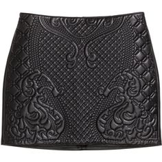 H&M Quilted skirt ($25) ❤ liked on Polyvore featuring skirts, bottoms, saias, black, quilted skirt and h&m skirts