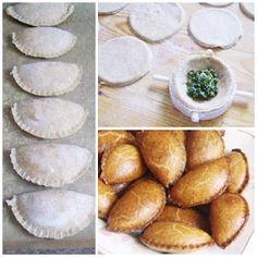 kenyerek és péksütik: Csirkés-spenótos empanada Pasta Maker, Empanadas, Ravioli, Street Food, Food Porn, Bread, Baking, Cake, Recipes