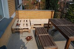 Wood pallet http://www.apartmenttherapy.com/before-and-after-pallets-used-81685