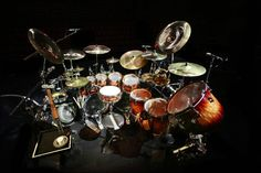 Ronn Dunnett's photo of Todd Sucherman's drum kit #Pearldrums #Sabian Pearl Masterworks drums. Sabian cymbals. #Styx. Original photo from: Facebook Todd Sucherman