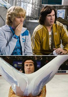 Will Ferrell and Jon Heder in Blades of Glory Blades Of Glory Quotes, Cinema Movies, Movie Tv, Movies Showing, Movies And Tv Shows, Nick Swardson, Romany Malco, Jon Heder, William Daniels