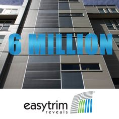 EasyTrim Reveals has officially sold over 6 million lengths of our fiber cement trim system. That's enough to cover the entire width of the US more than 4 times. Panel Systems, Cement, Fiber