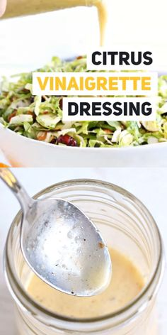 Citrus Vinaigrette is my go-to salad dressing for a cool crisp salad on hot summer days. Easy to make and tastes amazing. You'll love this citrus salad dressing recipe! Citrus Vinaigrette - Dressing OR Marinade! Vinaigrette Salad Dressing, Citrus Vinaigrette, Salad Dressing Recipes, Citrus Salad Dressings, Dressing For Kale Salad, Homemade Healthy Salad Dressing, Fat Free Salad Dressing Recipe, Healthy Salad Dressings, Vegetarian Recipes