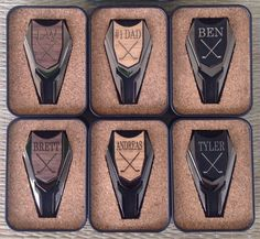 6 Personalized Groomsmen Gifts Wood Golf Ball Marker / Divot Remover - Gifts for Groomsmen, Best Man Gift, Father of the Bride Gift on Etsy, $200.00