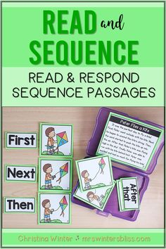 These SPRING sequence of events reading passages will help your Kindergarten, 1st, and 2nd grade students learn to identify and describe the sequence of events while reading. Students will read the passage, sequence the events of the story, and answer comprehension questions describing the events in the reading passage. DISTANCE LEARNING: NOW DIGITAL SLIDES INCLUDED!!