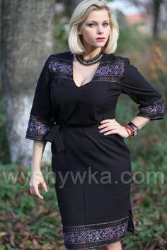 Плаття вишите чорне