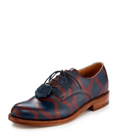 VIVIENNE WESTWOOD Grenson Evie Navy Squiggle Derby Shoe. #viviennewestwood #shoes #