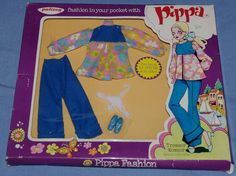 VINTAGE PALITOY PIPPA DOLL MADRID COLLECTION CLOTHES IN ORIGINAL BOX