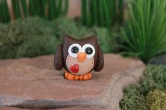 Polymer Clay chouette  chouette Miniature  Mini par GnomeWoods