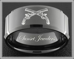Black Tungsten Men's Army Ring Military Police. Great Christmas Present!!