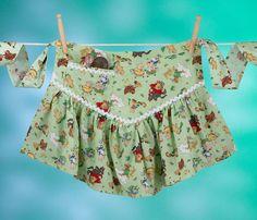 Vintage Apron Dress Fairy Tale Apronafore Bibock by Bibocks, $25.75