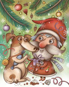 Лиза Сухно | Иллюстрация Дружба с Морозиком.