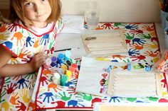 Art Smock and Mat - Easy as 1-2-3!