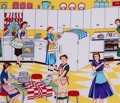 Michael Miller Fabric, Home Ec, Yellow