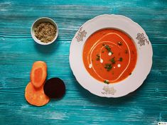 Krémová polévka z řepy, mrkve a batátů