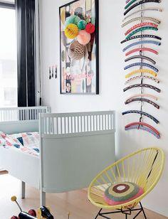 Gorgeous hangers as art. Love that. #kids #decor