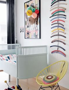 Gorgeous hangers as art. Love that. #kids #decor