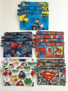 SUPERMAN zippered bag / Back to school Pencil by Monamumiranda