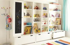 toy storage unit ikea i need an idea for this once we finish the rh pinterest com kids room storage hacks kids room storage units