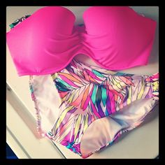 Very colorful bottom piece...two piece this summer...victoria's secret....bikini baby!