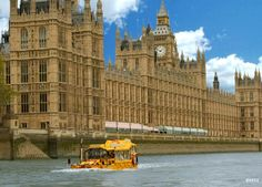 London Duck Tour: Houses of Parliament, River Thames, London. Saturday 30th May 2015.