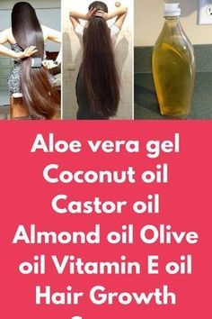 Aloe vera gel Coconut oil Castor oil Almond oil Olive oil Vitamin E oil Hair Growth Serum Today I will share overnight hair growth mask that will not make your hair longer but will also make them silkier and stronger For this remedy you will need Aloe ver Coconut Oil Hair Treatment, Coconut Oil Hair Growth, Castor Oil For Hair Growth, Hair Mask For Growth, Coconut Oil Hair Mask, Hair Growth Treatment, Hair Growth Oil, Aloe Vera Gel For Hair Growth, Oil For Curly Hair