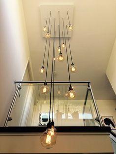 Vide lamp 12 snoeren – Home Decor İdeas Modern Plug In Pendant Light, Pendant Chandelier, Modern Chandelier, Ceiling Light Design, Modern Ceiling, Led Ceiling Lamp, Ceiling Lights, Staircase Lighting Ideas, Wooden Lamp