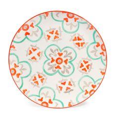 Assiette plate en faïence D 27 cm CARREAUX   - Vendu par 6