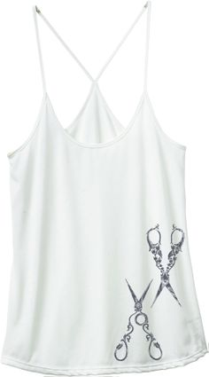 SHEARS TANK. If I was a hair stylist I would so wear this under a jacket or cardigan to work!