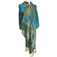 @Overstock - The artistic pattern of this paisley shawl wrap is created with alternating paisley, diamonds, and color blocking. A treat for you or the perfect gift for a loved one, this scarf is sure to be a favorite accessory.http://www.overstock.com/Clothing-Shoes/Womens-Teal-Paisley-Viscose-Wrap/5748414/product.html?CID=214117 $17.49