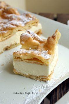 KARPATK (carpathian mountain cream cake) ~~~ karpatka is a peasant version of the more refined kremowka (puff pastry-based). [Poland] [niebieskapistacja]