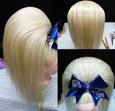 Posh Pony! (@poshponyandbows) | Twitter Retro Hairstyles, Cheer Hairstyles, Competition Hair, Teased Hair, Very Long Hair, Braided Ponytail, Remy Hair, Big Hair, Hair Piece
