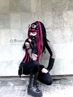 cyber-goth style girl (-mistabys-) by mistabys on deviantART