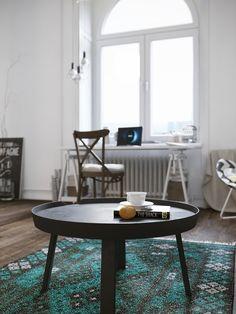Estúdio Escandinavo muito Chic com um Loft.